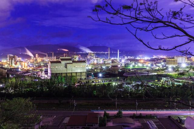 室蘭の工場夜景の写真