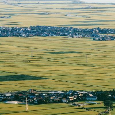 「井川町の田園」の写真素材