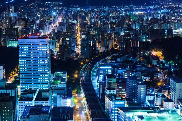 札幌の夜景の写真