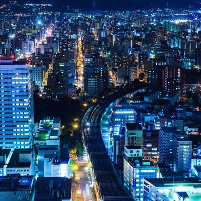 「札幌の夜景」の写真素材