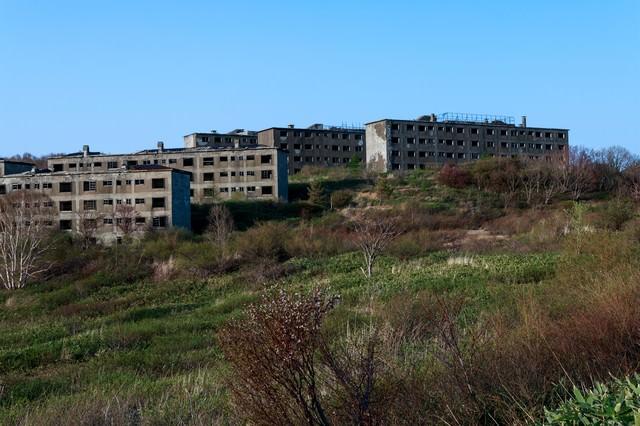 高台の廃墟の写真