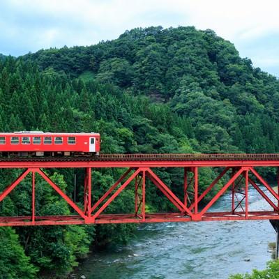 「秋田内陸鉄道」の写真素材