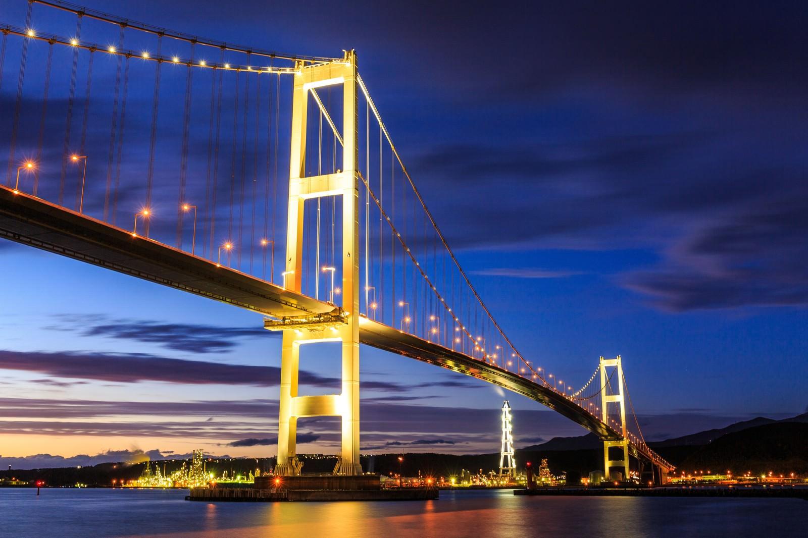 「室蘭白鳥大橋室蘭白鳥大橋」のフリー写真素材を拡大
