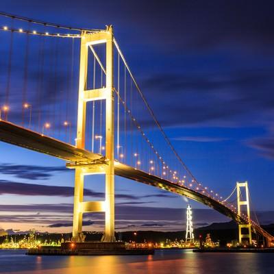 「室蘭白鳥大橋」の写真素材
