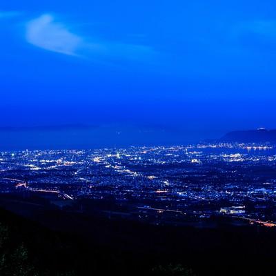 「函館裏夜景」の写真素材