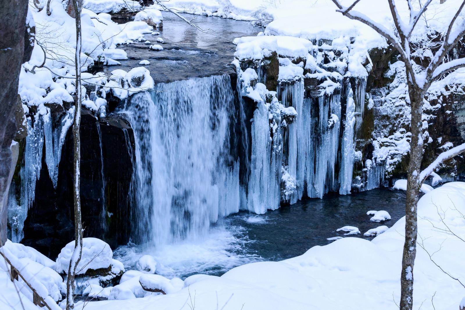 「冬の銚子大滝」の写真