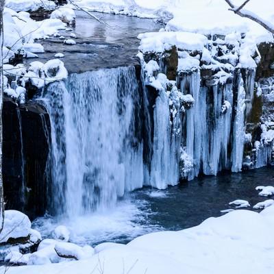 冬の銚子大滝の写真