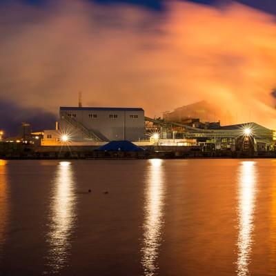 「八戸工場夜景」の写真素材