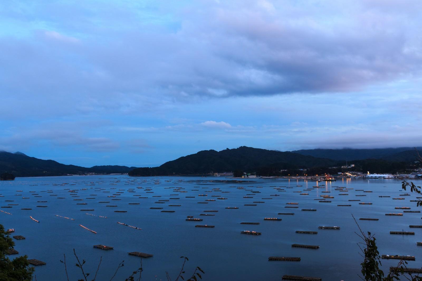 「牡蠣の養殖筏牡蠣の養殖筏」のフリー写真素材を拡大