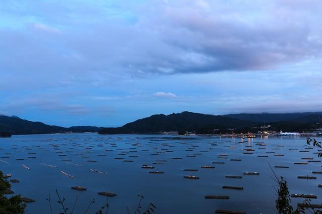牡蠣の養殖筏の写真