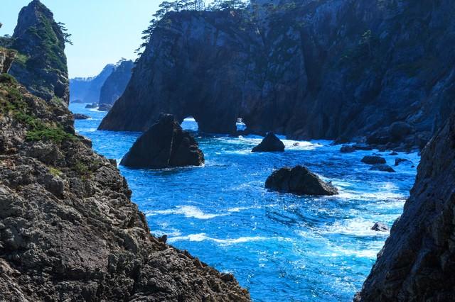 三陸の海の写真