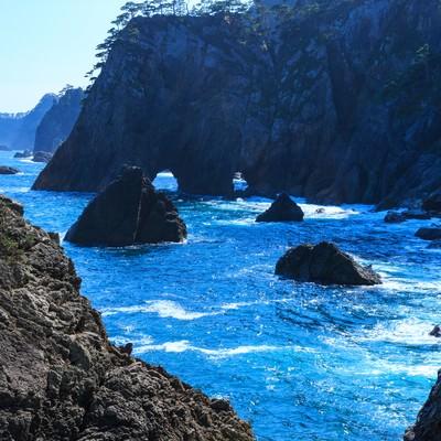 「三陸の海」の写真素材