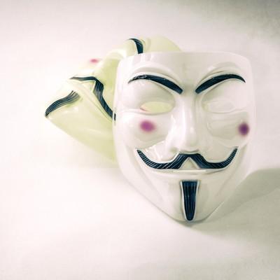 「不気味な表情の仮面」の写真素材