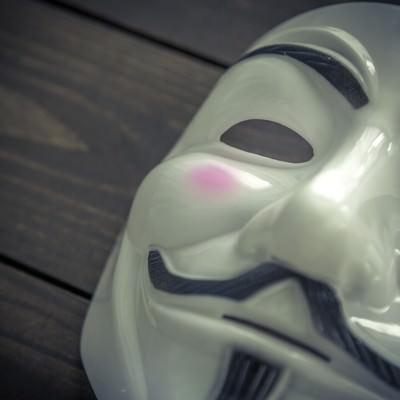 「匿名性の高い仮面」の写真素材