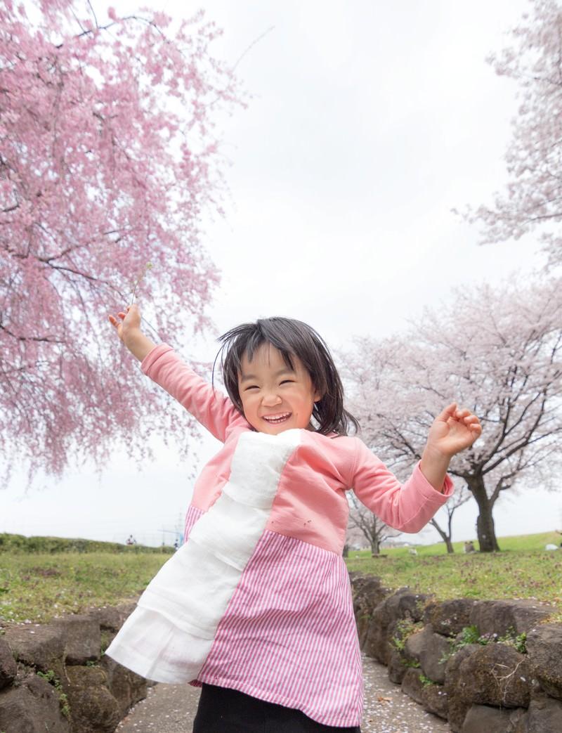 「桜満開大興奮」の写真[モデル:あんじゅ]