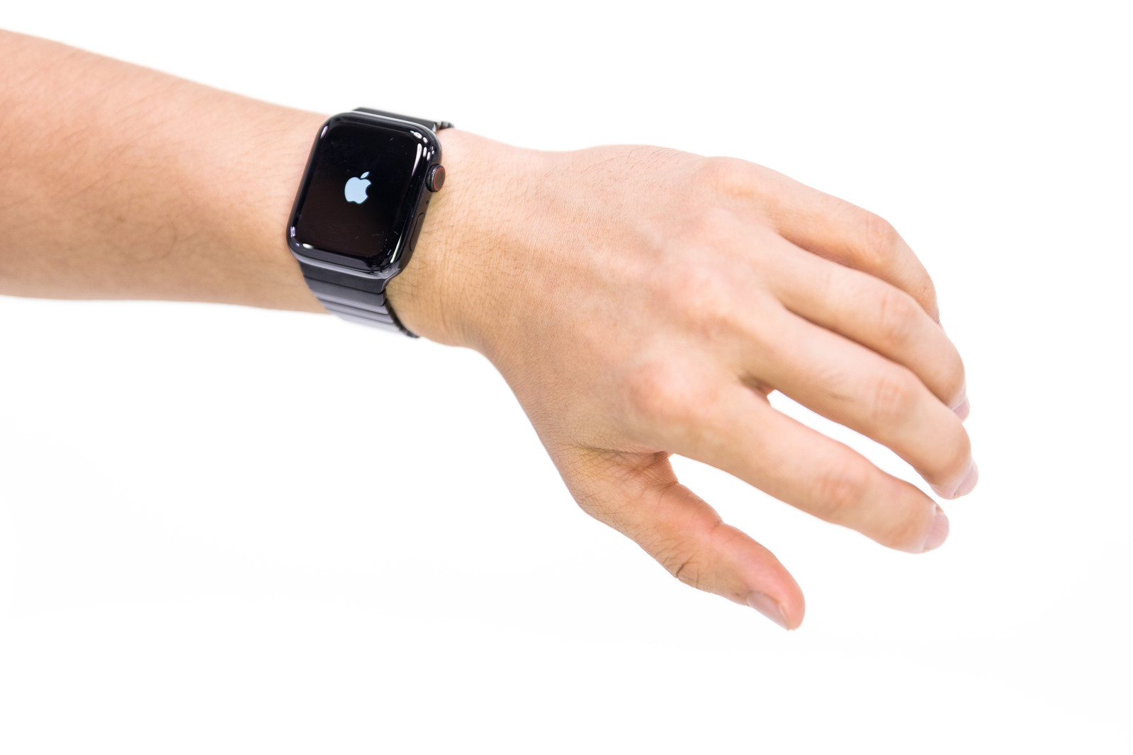 「Apple Watch Series 4 を取り付けた腕」の写真