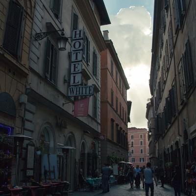 「イタリアの街中」の写真素材