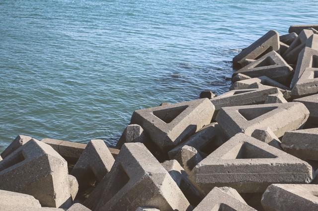 消波ブロックの写真