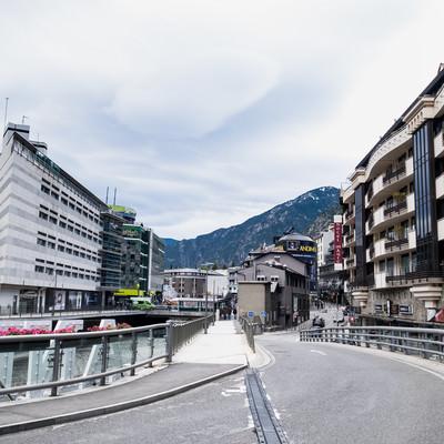 アンドラ公国の市街地の写真