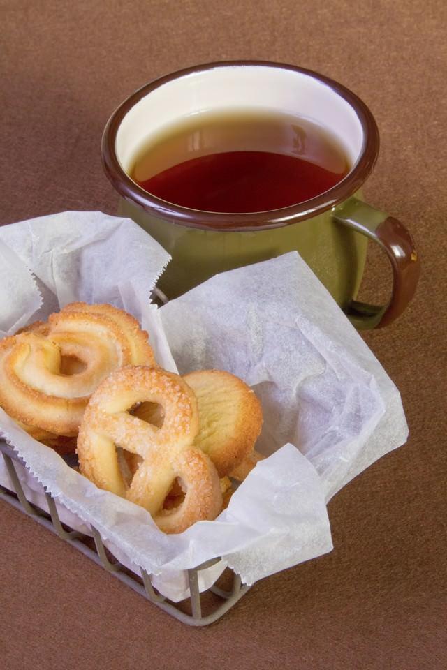 クッキーとお茶の写真