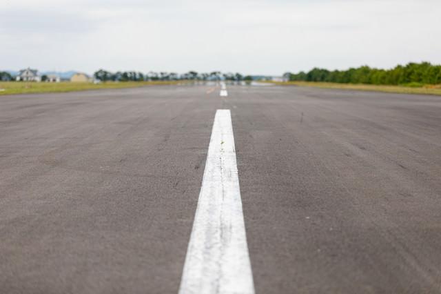 滑走路中心線(美唄市農道離着陸場)の写真