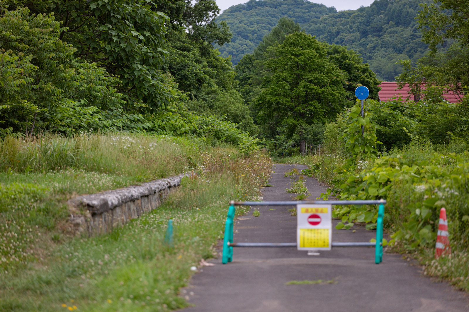 「進入禁止の道」の写真