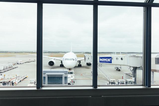 空港の旅客機の写真