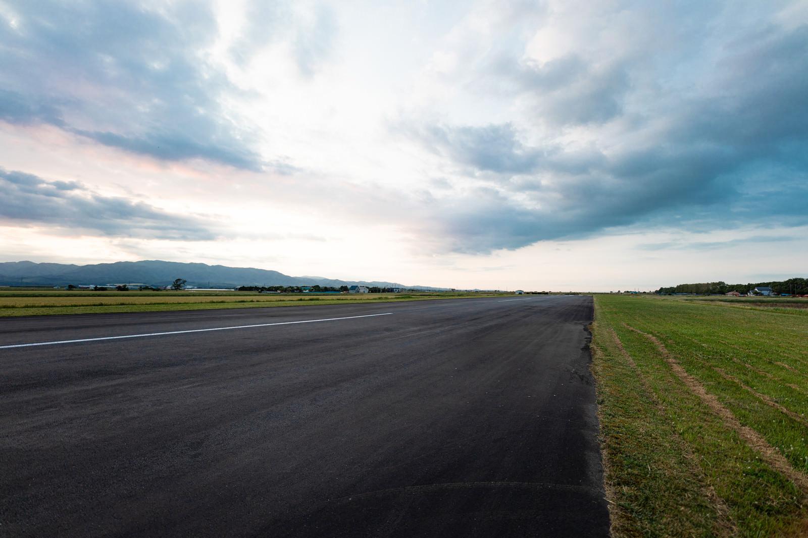 「美唄(びばい)市にある農道離着陸場」の写真