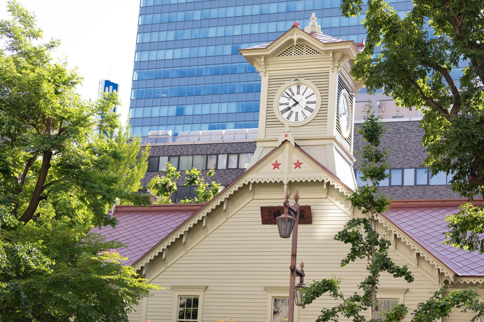 「札幌の名所札幌市時計台」の写真