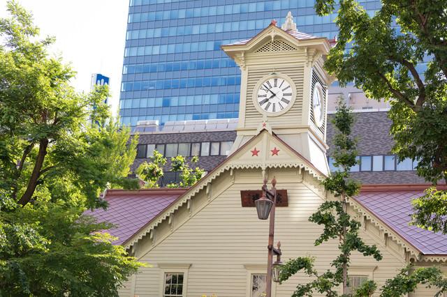札幌の名所札幌市時計台の写真