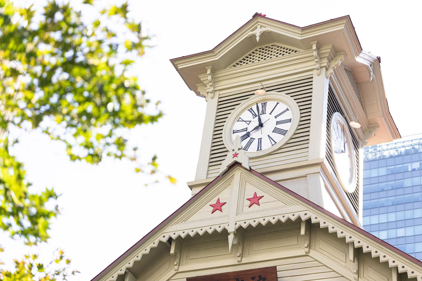 「まもなく八時をお知らせ致します(札幌市時計台)」の写真