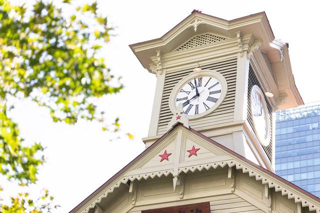 まもなく八時をお知らせ致します(札幌市時計台)の写真
