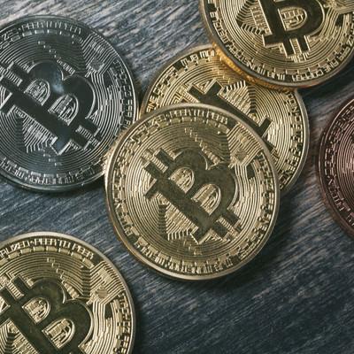 「bitcoinのメダル」の写真素材