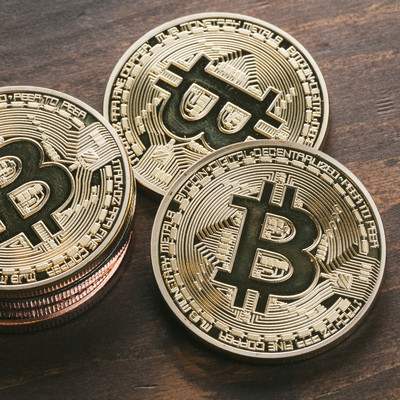 「高騰を続けるビットコイン価格」の写真素材