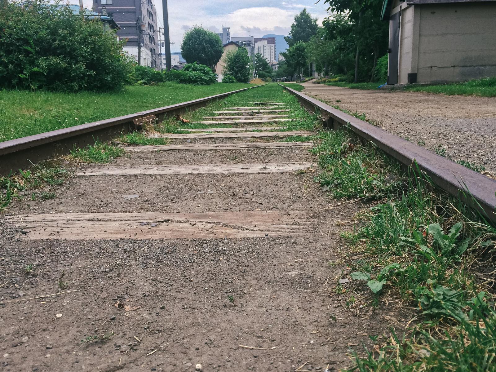 「小樽にある廃線跡」の写真