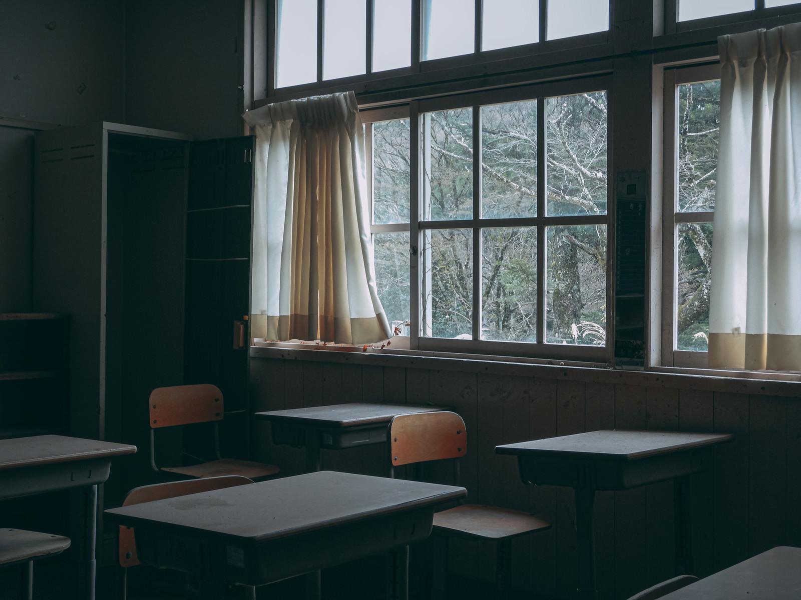 「誰もいない廃教室」の写真