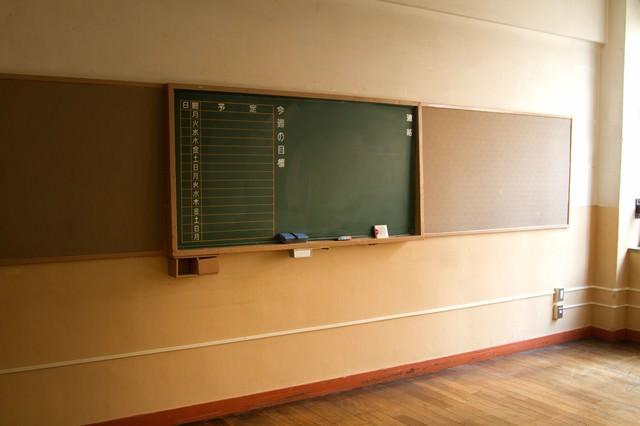 放課後の黒板の写真