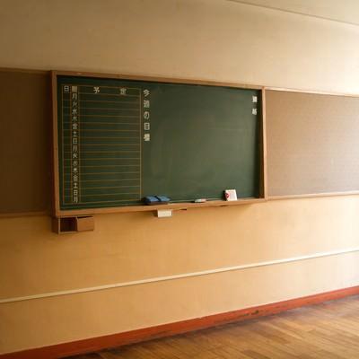 「放課後の黒板」の写真素材
