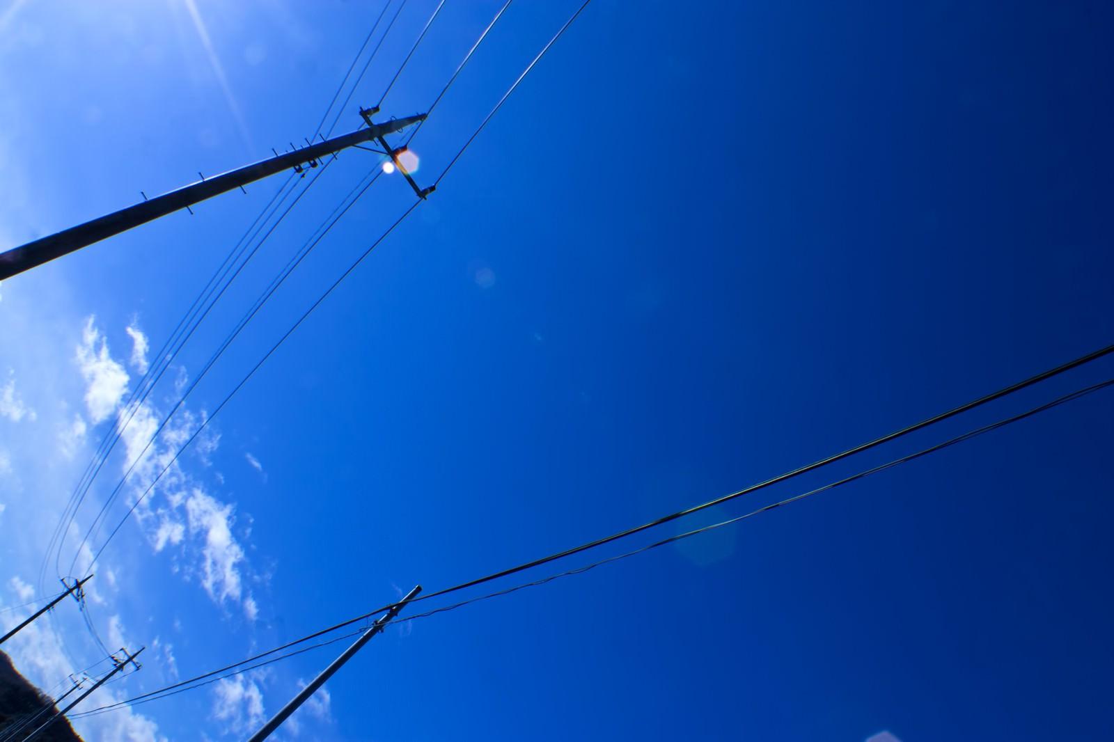 「青空と電柱」の写真