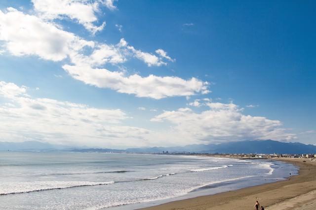 江ノ島の冬の海の写真