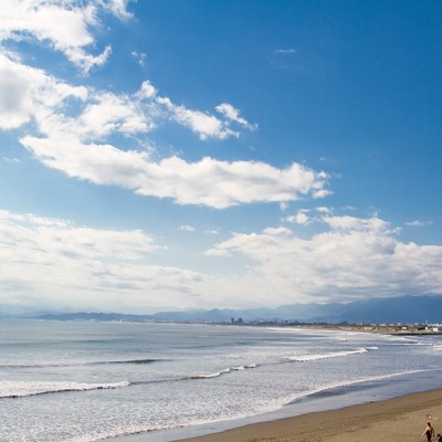 「江ノ島の冬の海」の写真素材