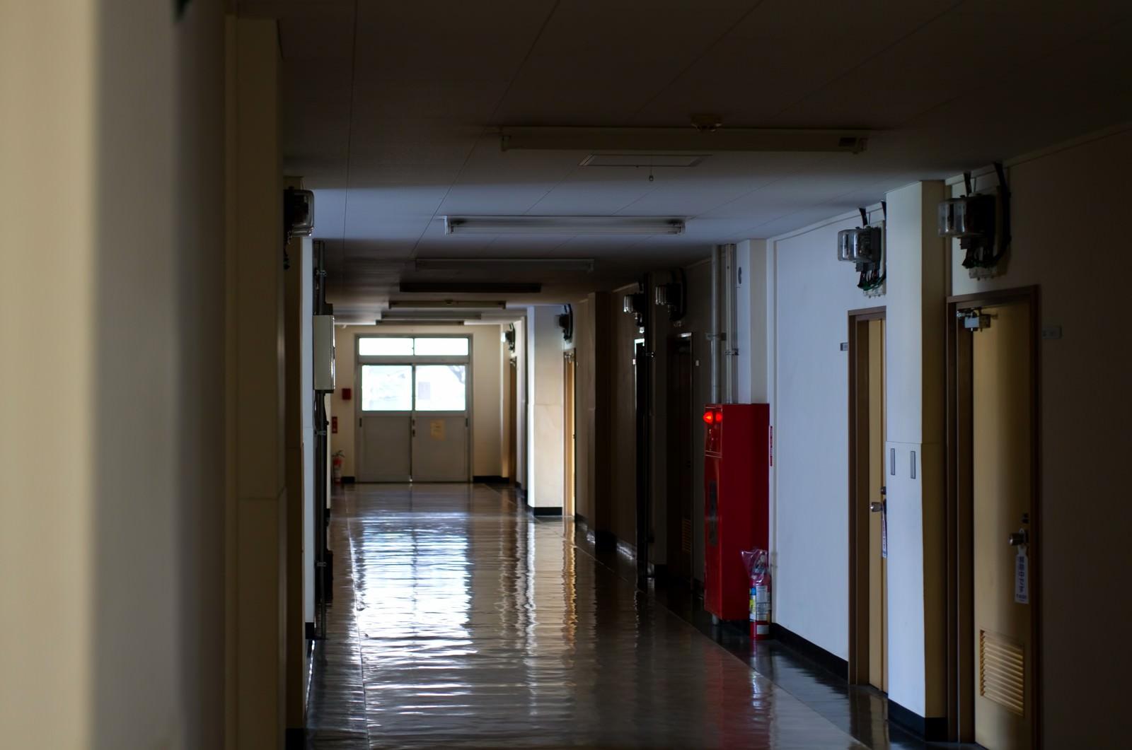 「うす暗い廊下うす暗い廊下」のフリー写真素材を拡大