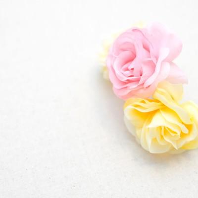 2色の造花の写真
