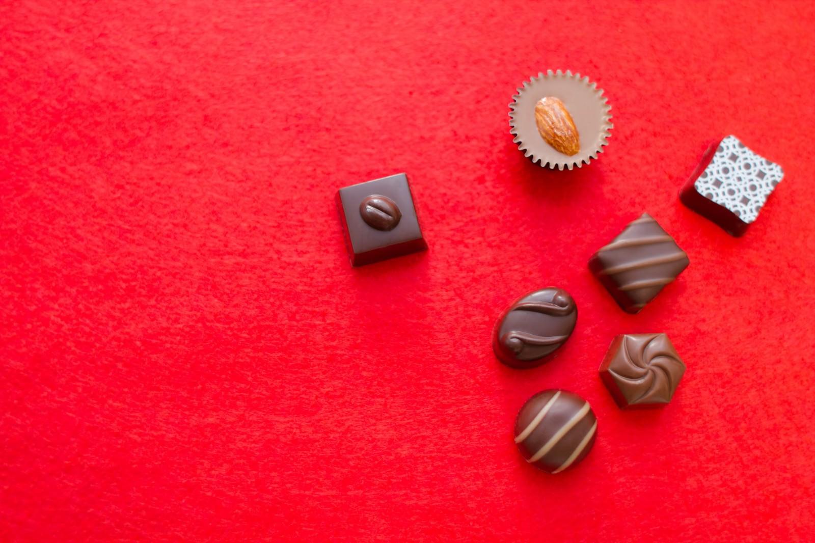 「散らばったチョコレート」の写真