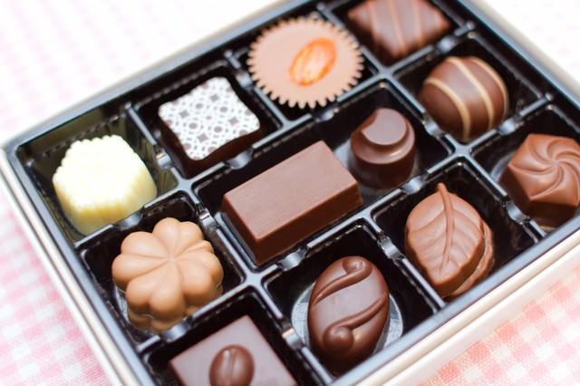 小さなチョコレート詰め合わせの写真