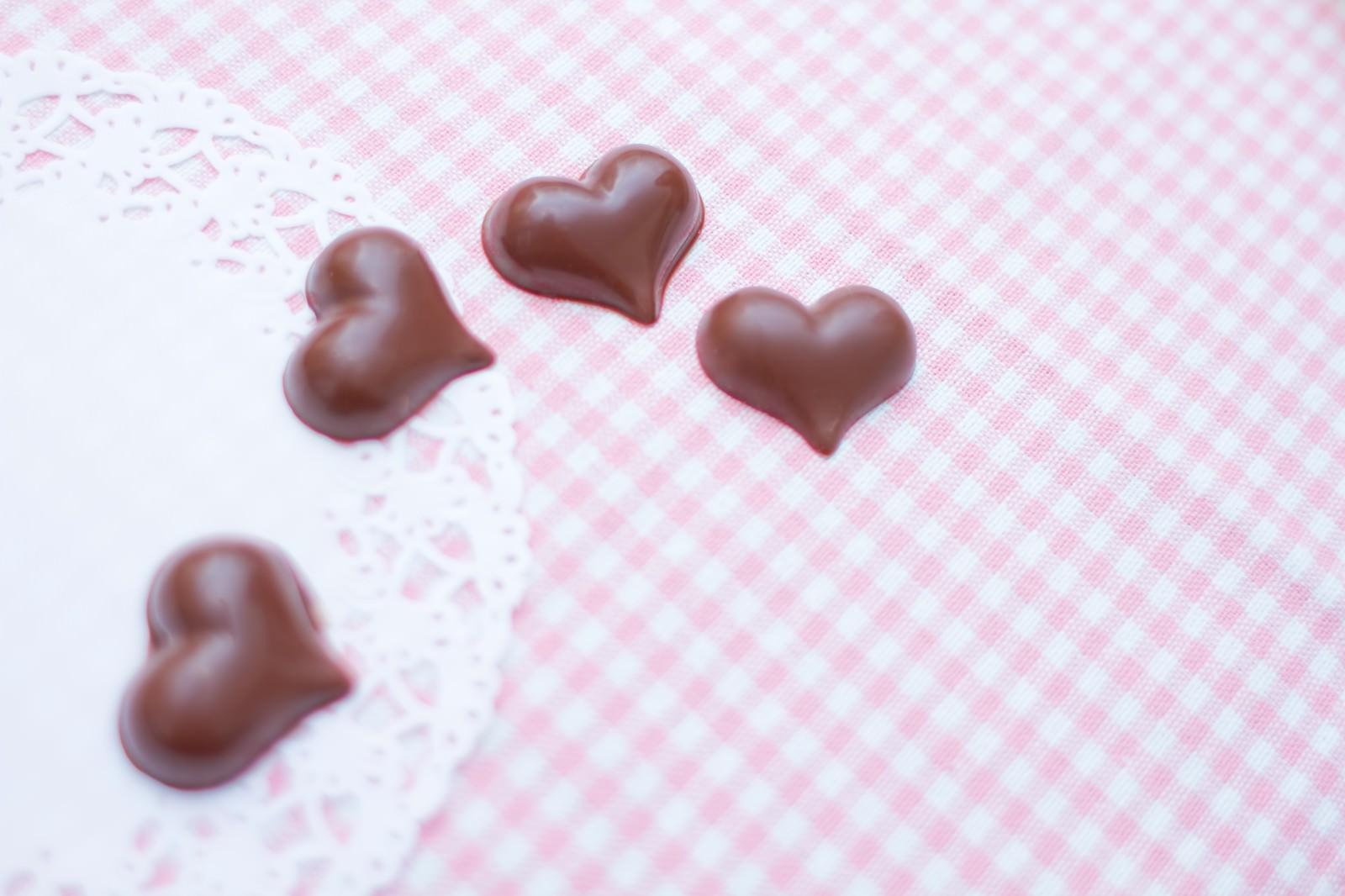 「ハート型のチョコレート」の写真