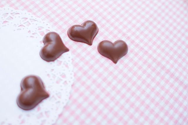 ハート型のチョコレートの写真