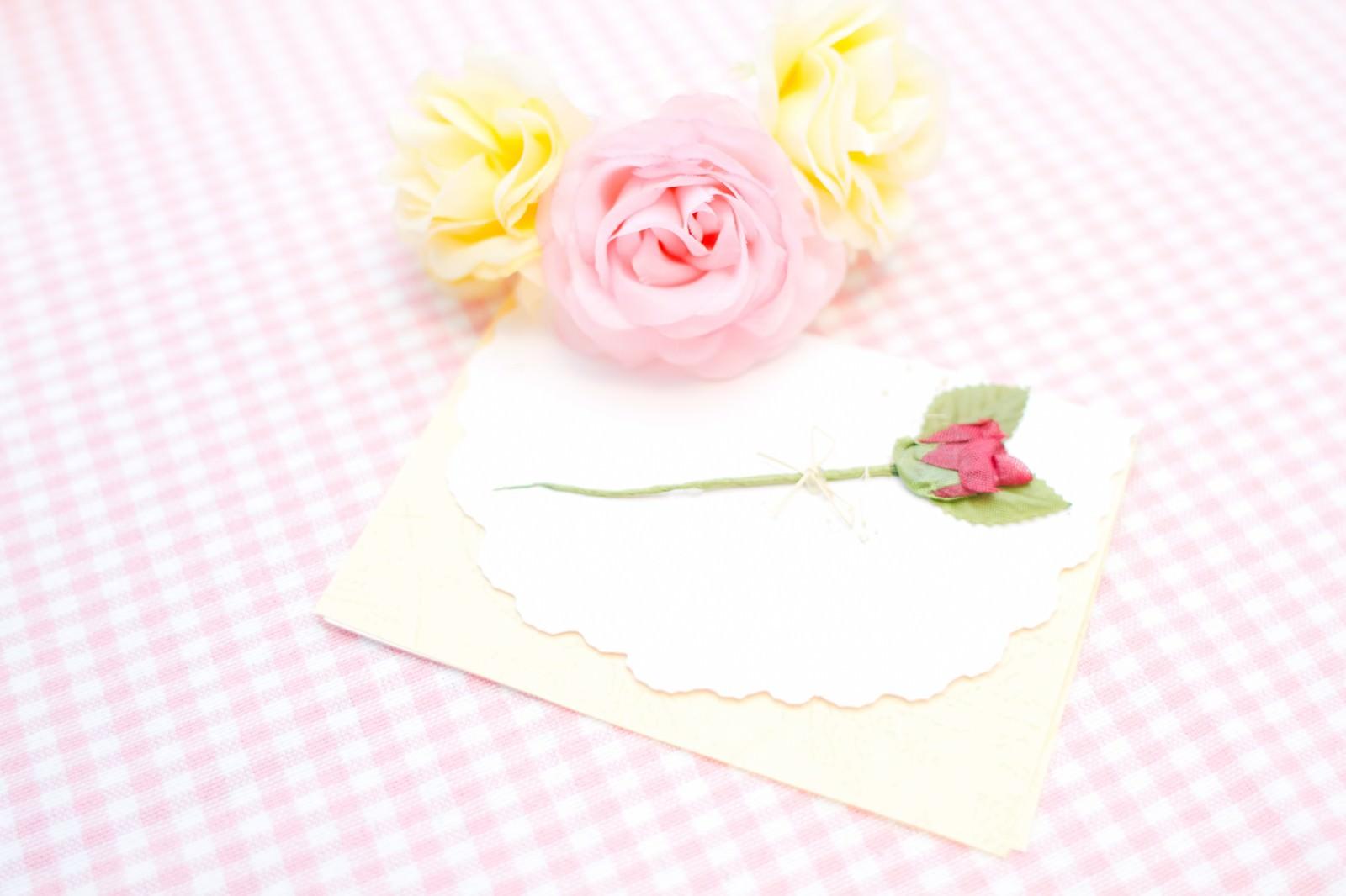 「お花と手紙」の写真