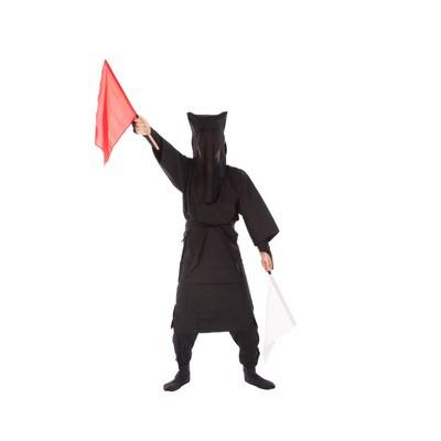「黒子の手旗信号2」の写真素材