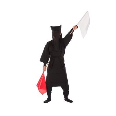 「黒子の手旗信号②」の写真素材